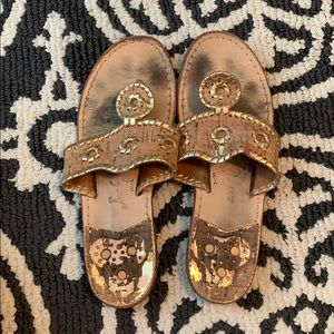 Gold and Cork Jack Rogers